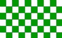GREEN & WHITE CHECKERED - 5 X 3 FLAG